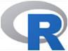 R language logo